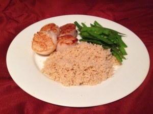 Seared Scallops with Snow Peas and Orange - Photo by Jennifer Welsh