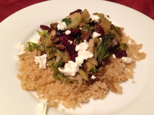Brussel Sprouts and Mushroom Ragu with Crispy Quinoa - Photo by Jennifer Welsh