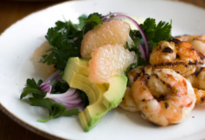 Grilled Shrimp and Grapefruit Salad