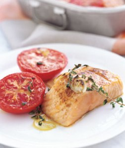 Garlic Broiled Salmon - Real Simple